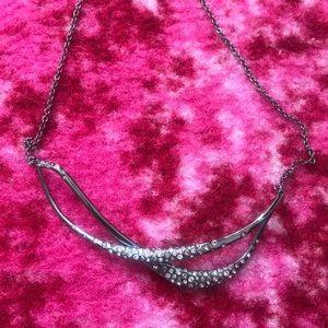 Alexis Bittar Silver Swarovski Crystal Necklace